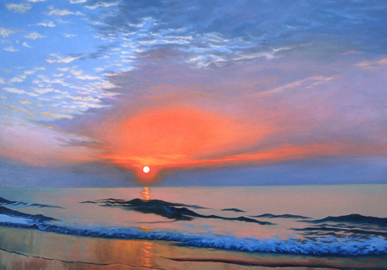 Painting of Ocean by John Hulsey