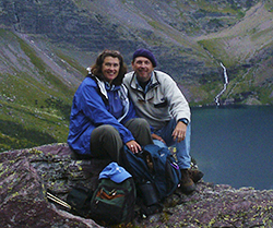 Photograph of John Hulsey and Ann Trusty in Glacier National Park