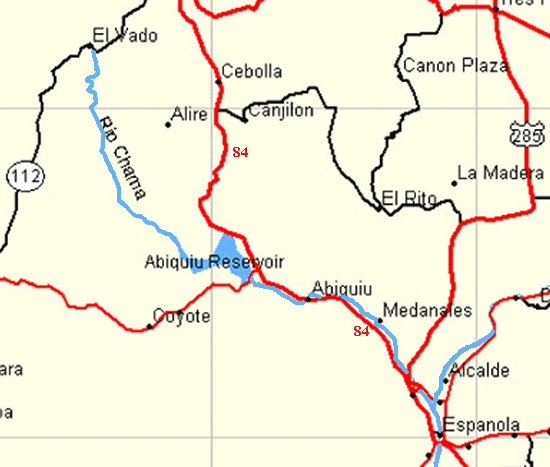 Map of the Rio Chama