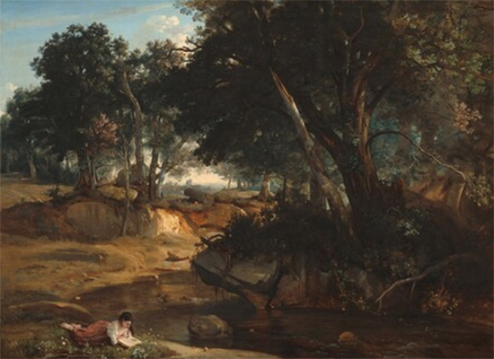 Forest of Fontainebleau, 1834, Camille Corot
