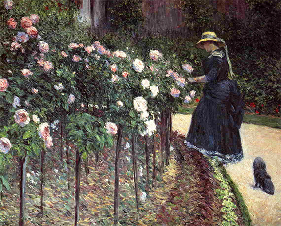 Roses in the Garden at Petit Gennevilliers, 1856, Gustave Caillebotte