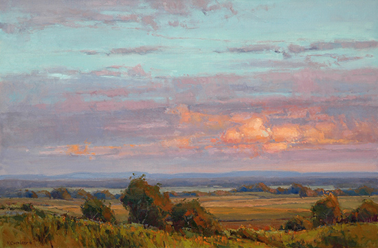 Oil Painting Close to Home by Kim Casebeer