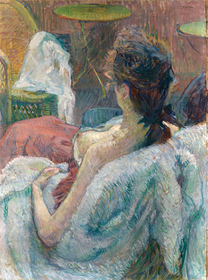 The Model Resting, Casein/Tempera, 1889, Henri de Toulouse Lautrec
