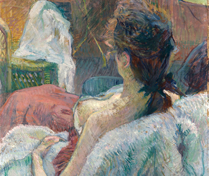 The Model Resting (detail), Casein/Tempera, 1889, Henri de Toulouse Lautrec