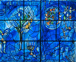 (detail) America Window, Stained Glass, Art Institute of Chicago, Marc Chagall