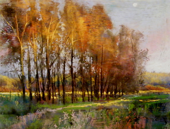Pastel Landscape Painting by Tom Christopher