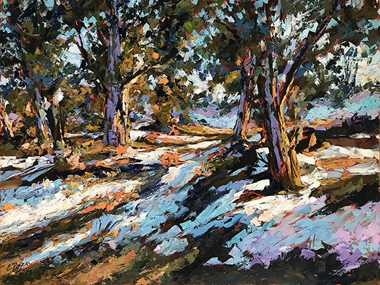 "Of Sun And Snow, 36 x 48"", Oil, © Cynthia Rosen"