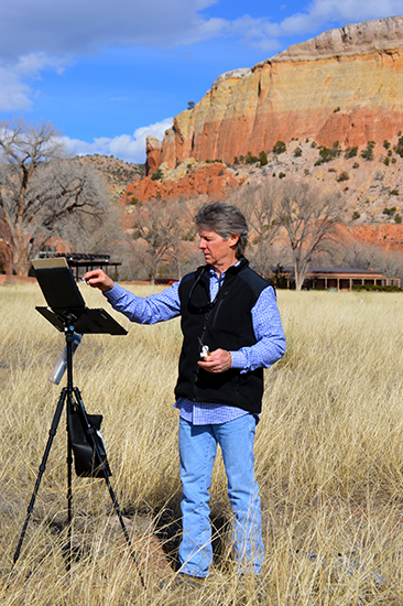 Photograph of David Griffin Painting at Ghost Ranch