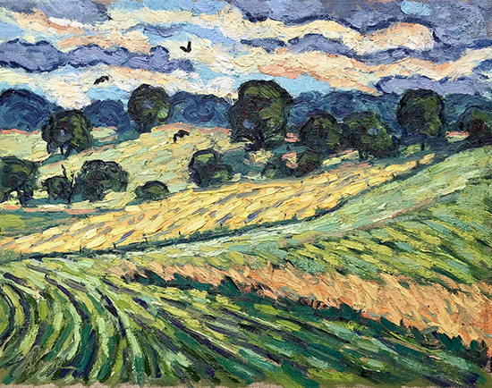 "Fields Like Home, 11 x 14"", Oil, © Dena Peterson"