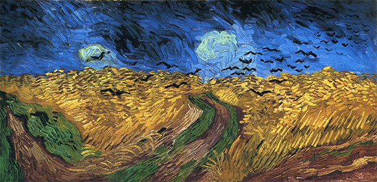 Wheatfield with  Crows, 1890, Vincent van Gogh