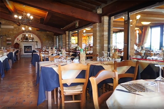 photo of the restaurant at the Residence Casanova Hotel, Tuscany, Italy