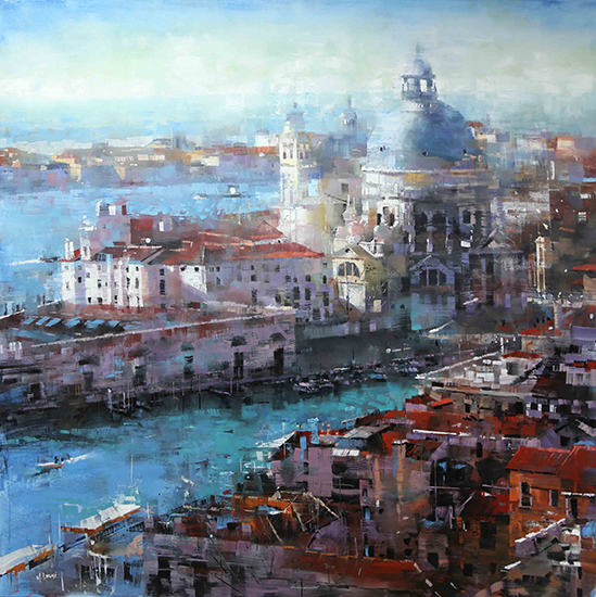 "Venice Afternoon, 40 x 40"", Oil, © Mark Lague"