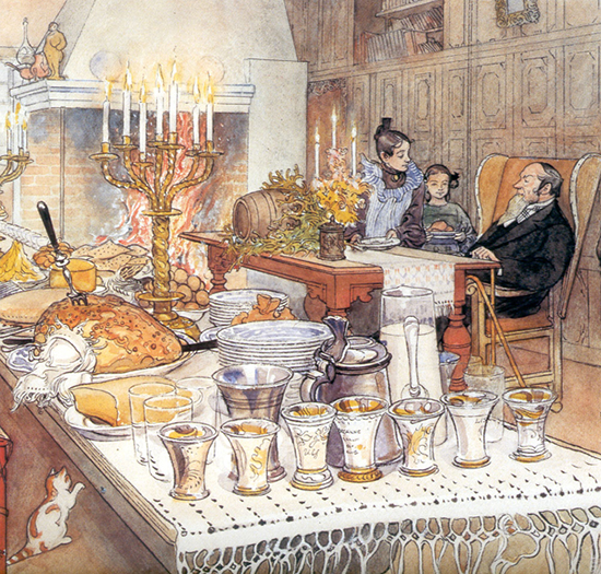 Detail of Christmas Eve by Carl Larsson