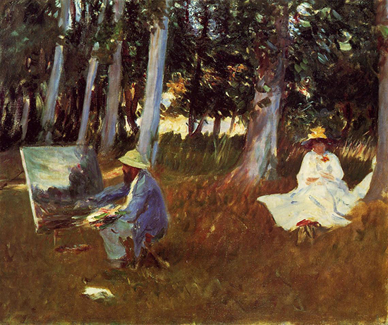 Painting of Claude Monet by Sargent