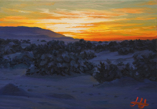 oil painting of New Mexico, by John Hulsey
