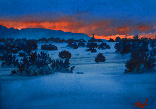 Watercolor Fire and Ice by John Hulsey