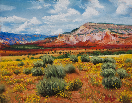Ghost Ranch Pastel by John Hulsey