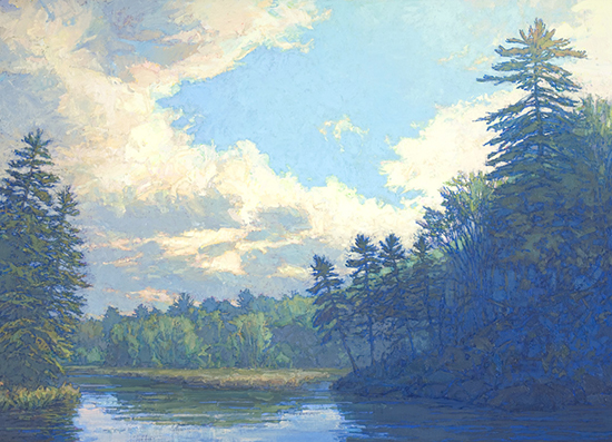 Oil Painting Utowana Inlet II by Thomas Paquette