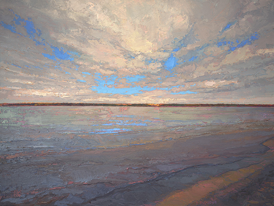 oil painting of Mississippi River © Thomas Paquette
