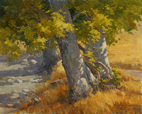 "Creekside Autumn - Curry Canyon, 16x20"", oil, © Paul Kratter"
