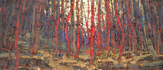 "Sleepless Forest, 24 x 48"", Oil, © Anton Pavlenko"