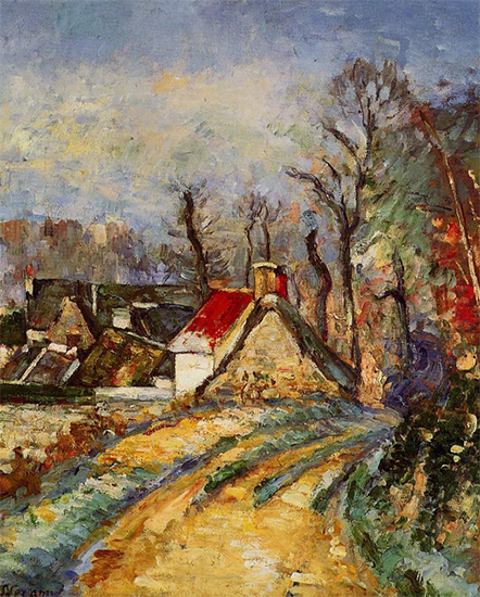 A Turn in the Road at Auvers, 1873, Paul Cezanne