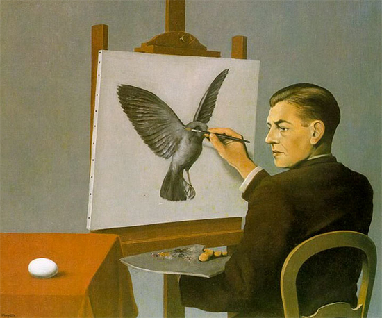 Painting by Renee Magritte used under fair use