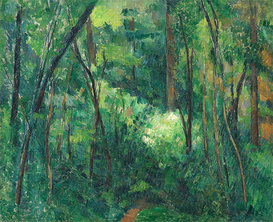 Interior of a Forest, 1880-90, Paul Cezanne