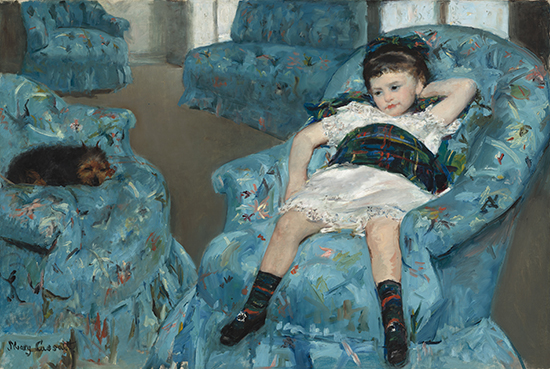 Little Girl in a Blue Armchair, 1878,  Mary Cassatt