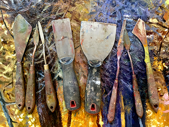 Painting Knives © J. Hulsey