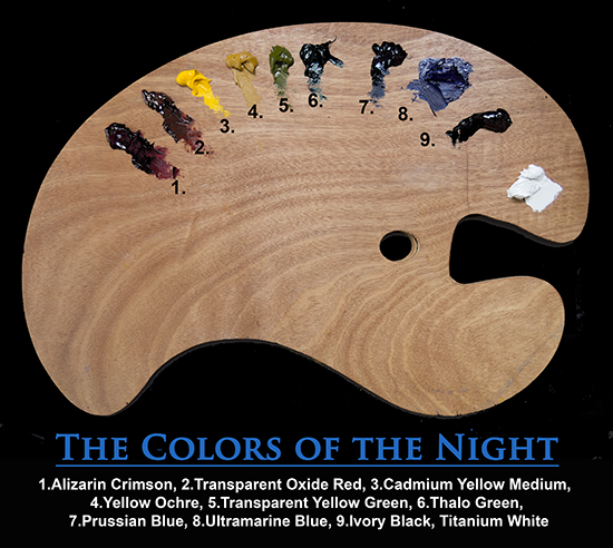 Colors of the Night Palette