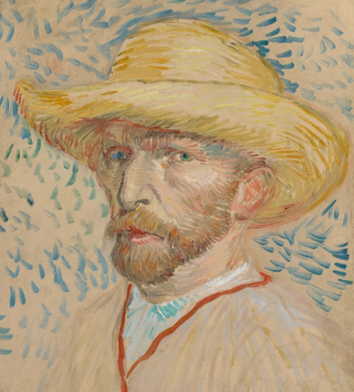 Self Portrait in Straw Hat, 1887, van Gogh
