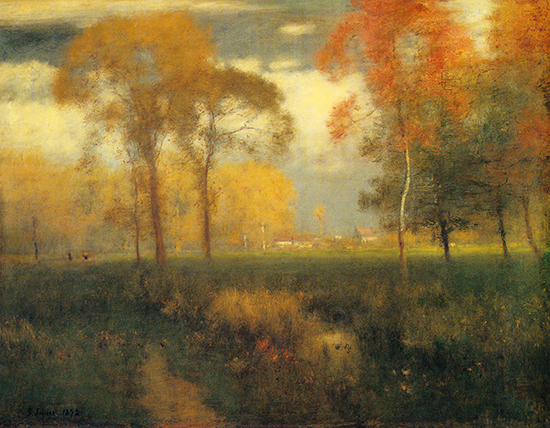 Sunny Autumn Day 1892 by George Inness