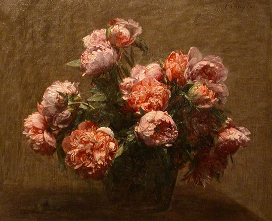Vase of Peonies by Fantin Latour