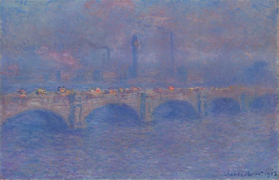 Waterloo Bridge, Sunlight Effect, 1903, Claude Monet