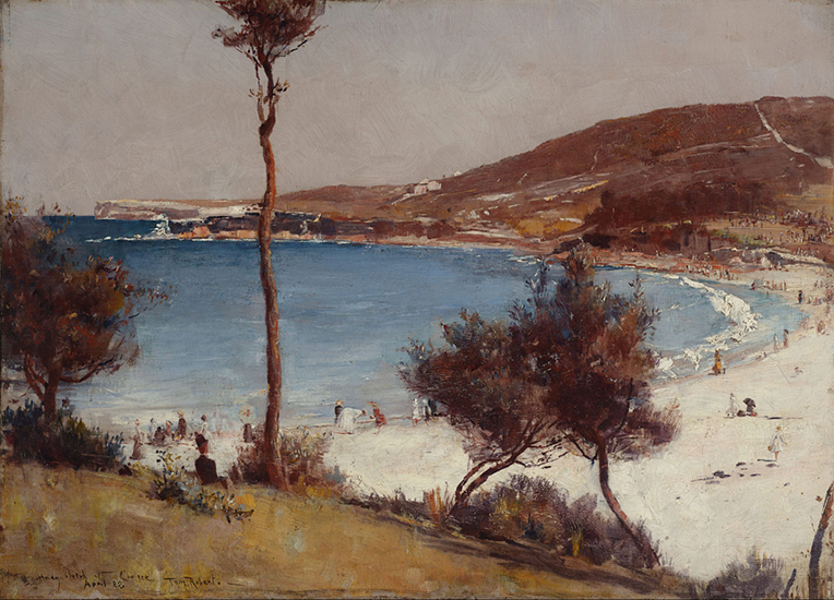 oil painting of landscape by Tom Roberts