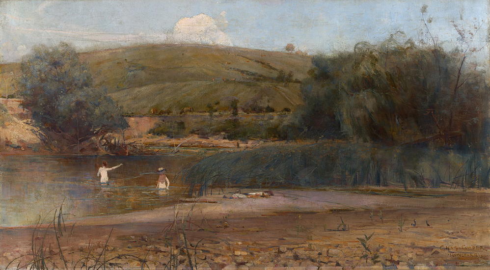 oil painting of landscape by Charles Conder