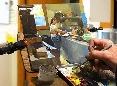photo of James Gurney painting