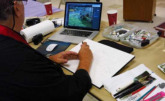 Photo of David Rankin at work