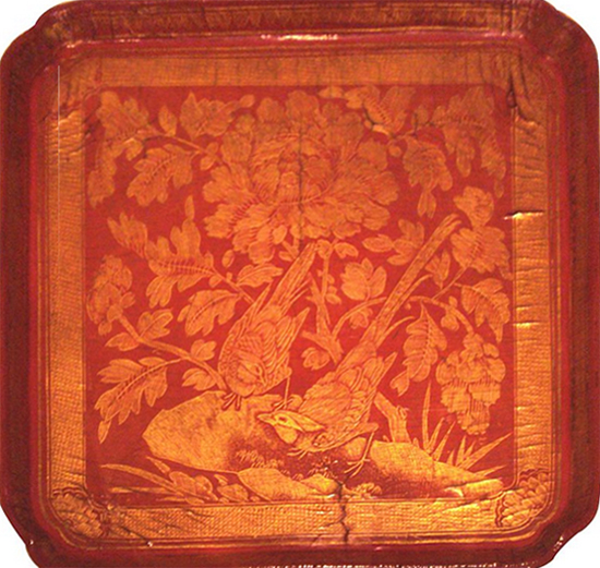 Red Lacquerware Tray 12 13 c Song Dynasty