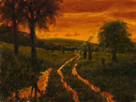 "The Way Home II, Oil, 9 x 12"", © John Hulsey"