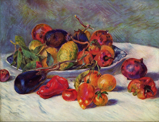 oil painting of fruit