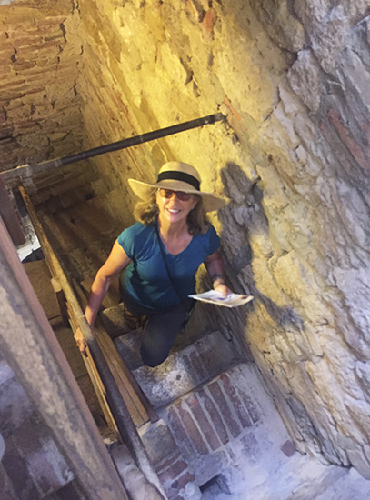 Climbing to the Top of the Tower at Montepulciano © J. Hulsey