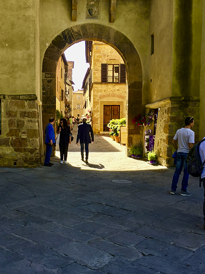 Photo of old gate in Pienza, Italy. © J. Hulsey