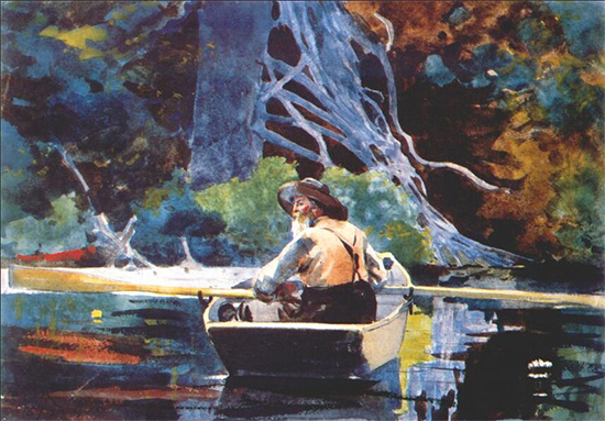 The Adirondack Guide Winslow Homer Watercolor 1894