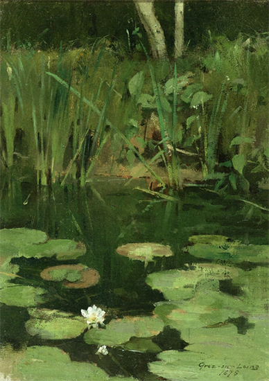 Water Lilies, 1878, Theodore Robinson