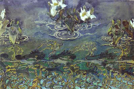 Water Lilies, 1895, Mikhail Vrubel