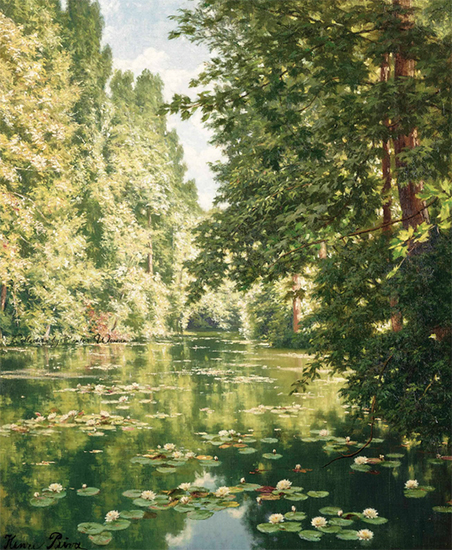 Water Lilies on the Marne, Henri Biva