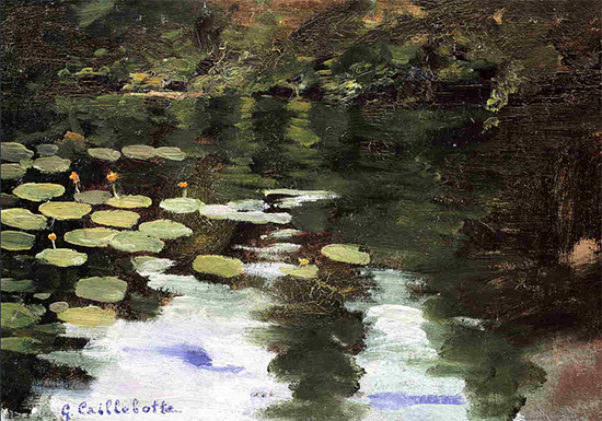 Yerres on the Pond, Water Lilies, 1871-78, Gustave Caillebotte